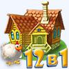 Игра Веселая ферма. 12 в 1