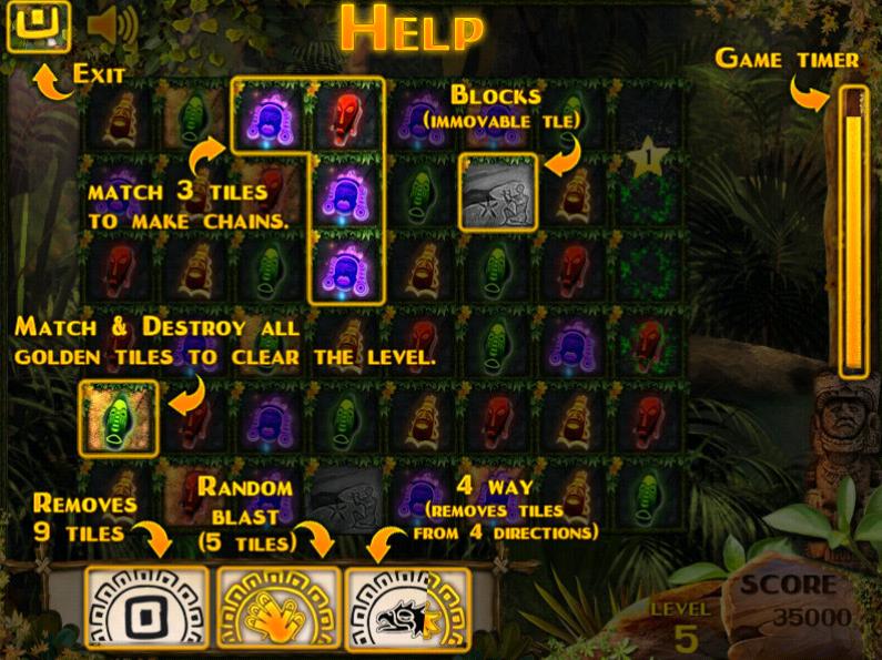 Изображение из игры Путешествие в храм Ацтеков 3