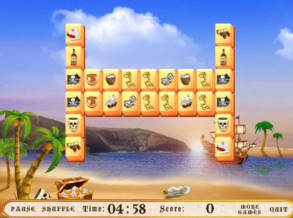 Изображение из игры Пиратский маджонг!