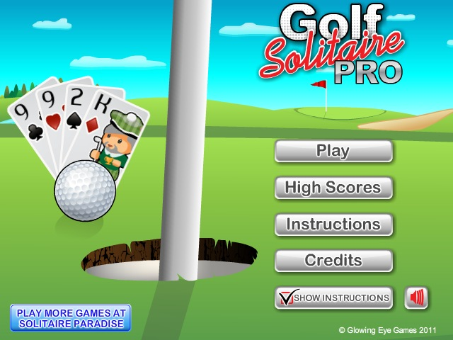 golf solitaire pro full screen