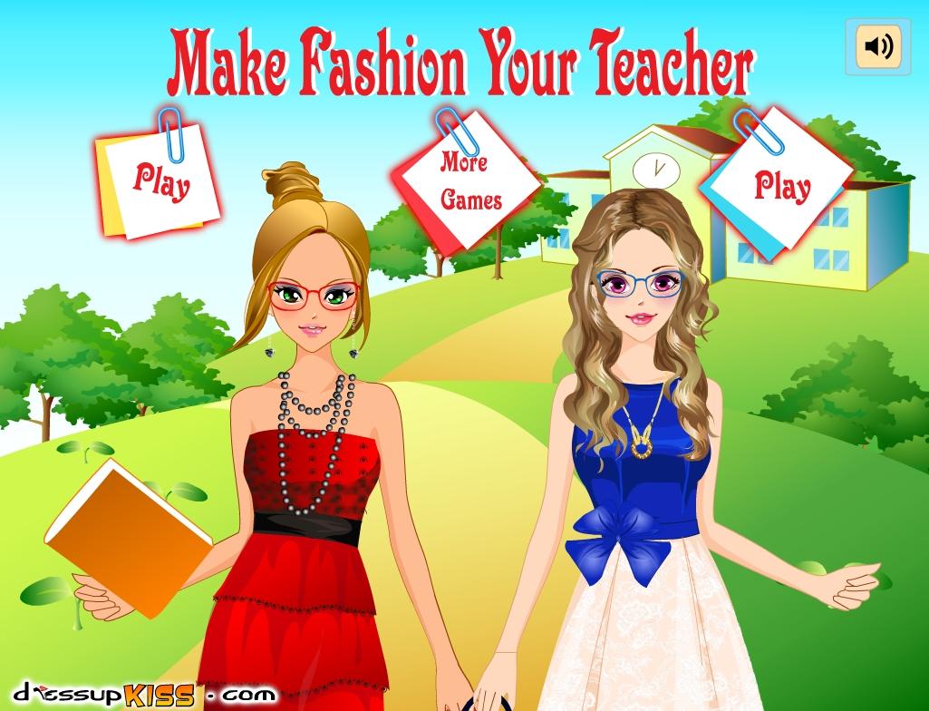 Играть в онлайн флеш игру Стиль учителя. Make Fashion Your Teacher