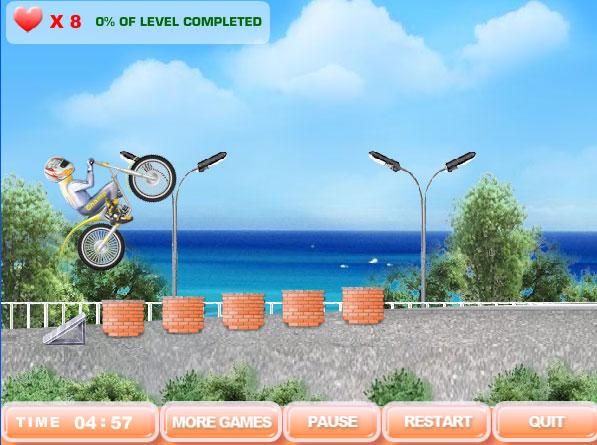 Изображение из игры Акробат-мотоциклист 2