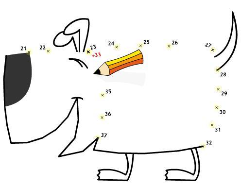 Кадр из игры Рисуем щенка