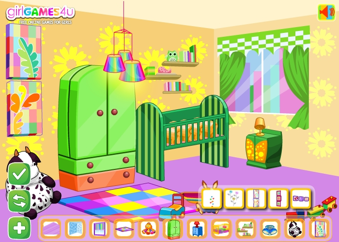Free online barbie home decoration games home decor for Baby room decoration games