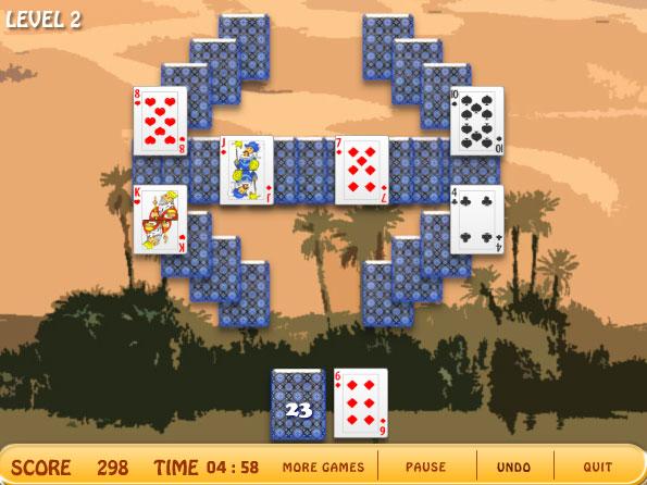Изображение из игры Пасьянс: Оазис