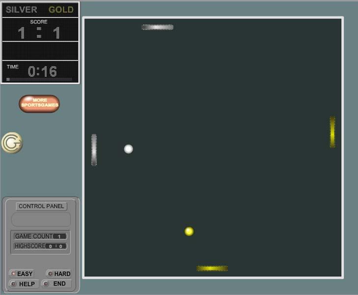 Изображение из игры КвадПонг