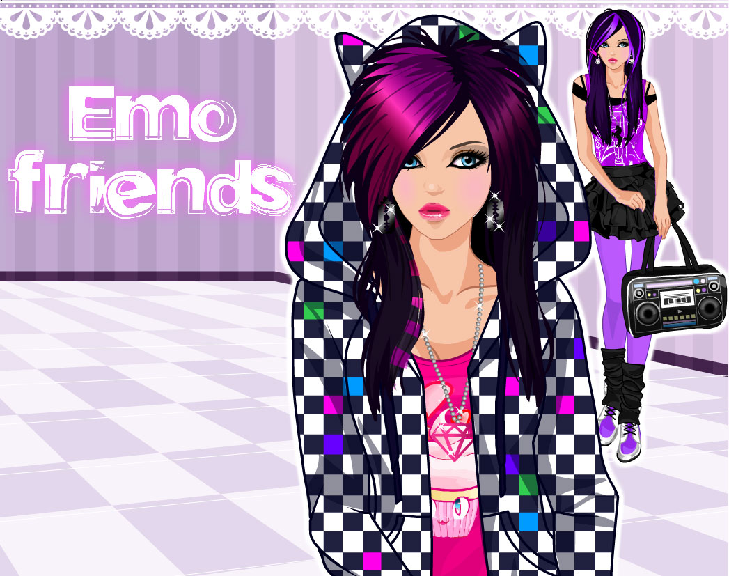 Dress up emo style