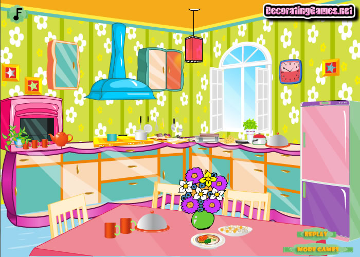 for Kitchen decoration games