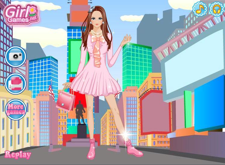 Изображение из игры Одевалка: Выходные в Нью-Йорке