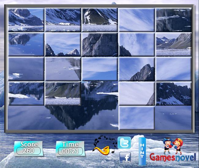 Изображение из игры Пятнашки: Зимний пейзаж