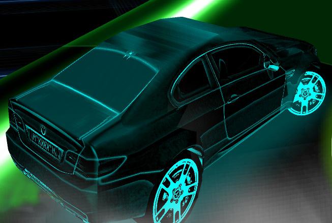 Изображение из игры 3D Неоновая гонка