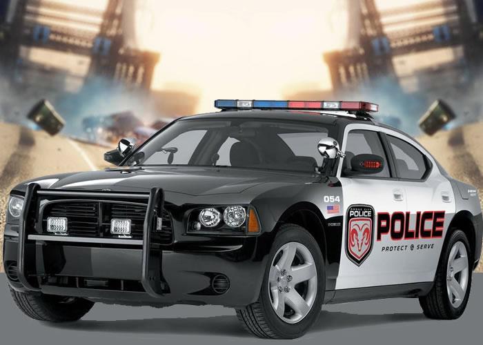 Изображение из игры Пазл: Полицейская машина