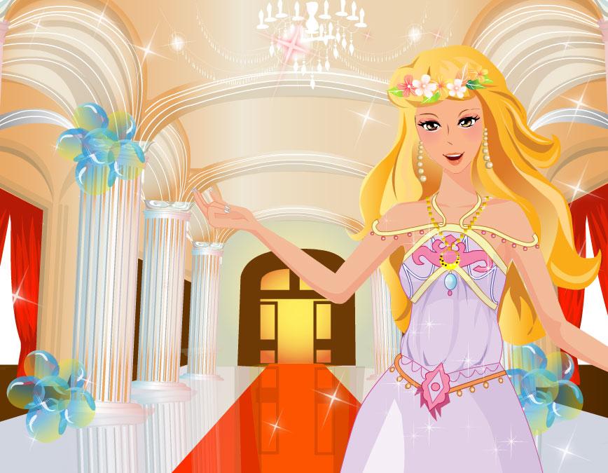Конкурс одевалки принцесс