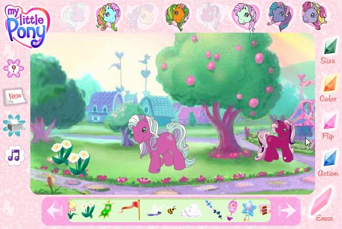 Играть в пони гонки