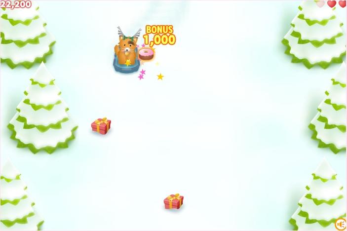 игра животные ездят на санках