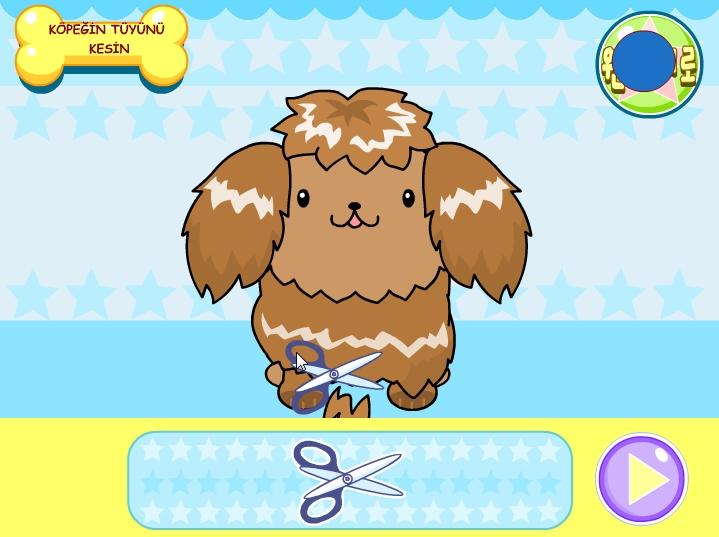 Игра причёска для собаки