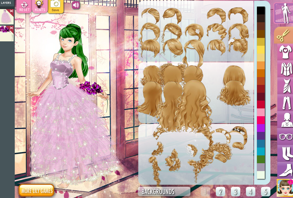 for Anime wedding dress up games