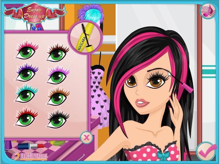 Игры макияж и причёски и одевалки