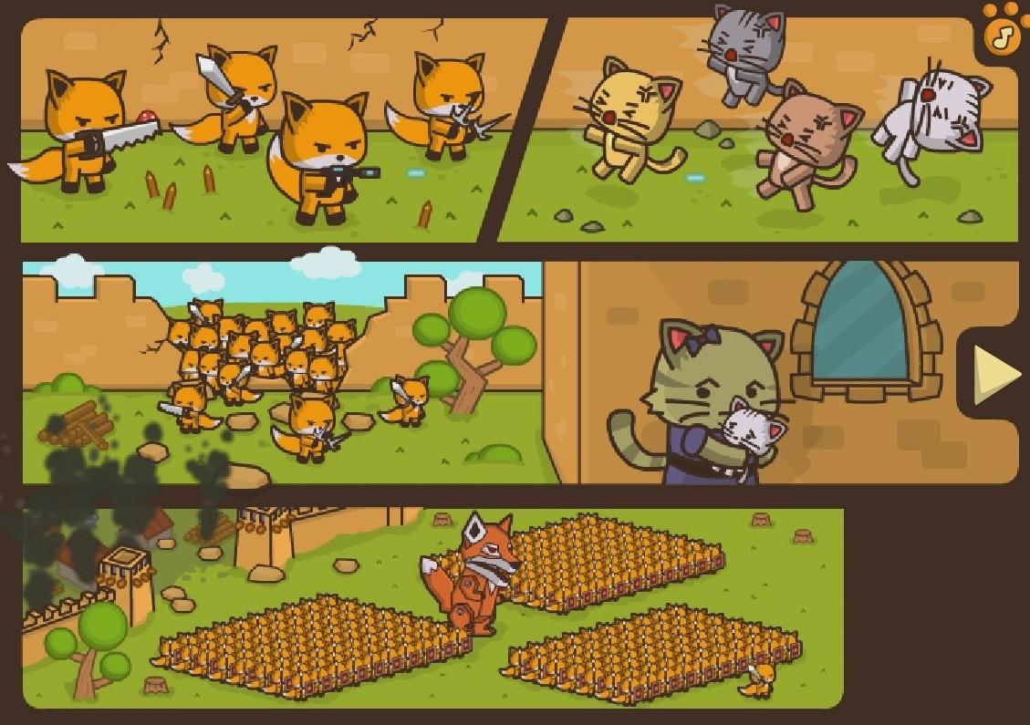 Скачать игру котята против лисят 2