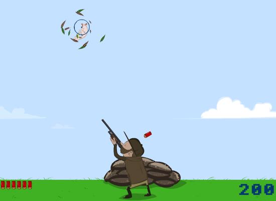 Как стрелять по летящей утке