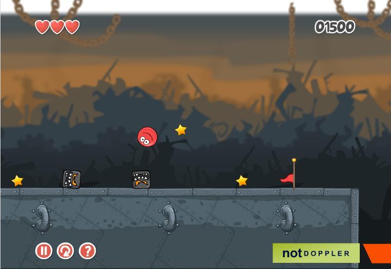 Изображение из игры Красный шар 4. Часть 3