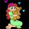 Игра Раскраска: Девочка с медвежонком