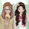 Игра Одевалка: наряжаем сестричек