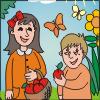 Игра Раскраска: Мари и Поль
