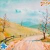 Игра Пазл: Осенняя дорога