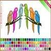 Игра Раскраска: попугаи
