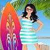 Игра Одевалка: Девушка-серфер