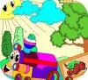 Игра Раскраска: Веселый паровоз