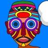 Игра Раскраска: Маски сердца Африки