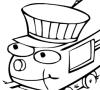 Game Train Coloring book 2