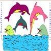 Игра Раскраска: Дельфины