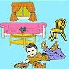 Игра Раскраска: Гостиная комната