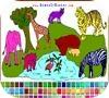 Игра Раскраска: Жизнь в зоопарке