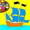 Игра Супер раскраска: Корабль