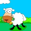 Игра Раскраска: Веселая овечка