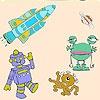 Игра Раскраска: Космические существа