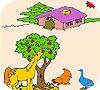 Игра Раскраска: Животные на ферме.