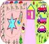 Игра Раскраска: Зимний курорт