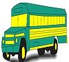 Игра Раскраска: Школьный автобус
