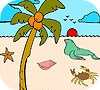 Game Seal in the beach coloring