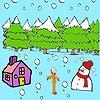 Игра Раскраска: Снеговик