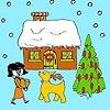 Игра Раскраска: Канун Нового года