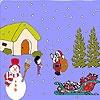 Игра Раскраска: Санта и дети