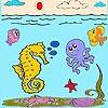 Игра Раскраска: Море и рыбки