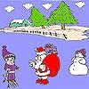 Игра Раскраска: Санта и снег