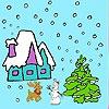 Игра Раскраска: Снежное рождество